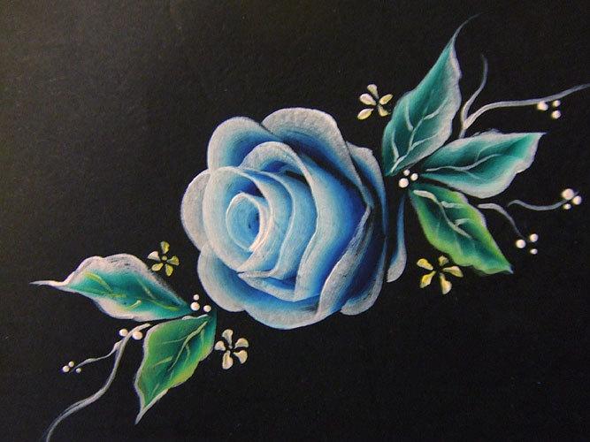 七种基本笔法练习,圆花,随意花 二 花,树叶,玫瑰花蕊的